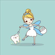 cartoon tooth with tooth fairy and magic wand, great for dental care concept Illustration , Dental World, Dental Life, Dental Art, Dental Design, Dental Health, Oral Health, Dental Assistant, Dental Hygienist, Tooth Fairy Images