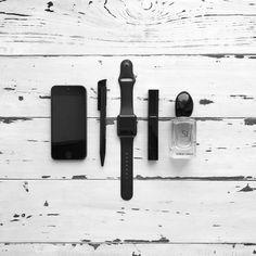 #Flatlay #minimalism #black #iphone #armani #si #chanel #beauty #minimalistic #minimalist
