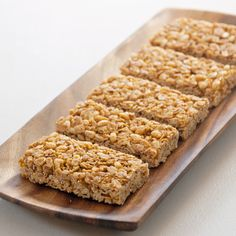 Recipe Hack: Nature Valley Oats 'n Honey Granola Bars.  Sub oats for gluten free version and brown sugar for maple sugar