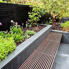 Fence Design, Garden Design, Narrow Garden, Contemporary Garden, Decks And Porches, Back Gardens, Outdoor Rooms, Garden Beds, Garden Projects