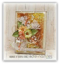Magic Craft Land by Henryka Magic Crafts, I Card, Mixed Media, Floral Wreath, Invitations, Card Ideas, Handmade, Scrapbooking, Painting