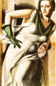 Tamara de Lempicka - Woman in green glove