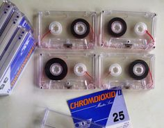 4 audio compact cassettes / Master Serie CHROMDIOXID II / Leerkassetten