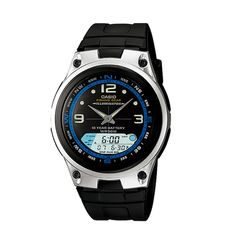 Casio Men's Black Resin Quartz Watch with Black Dial - articles price Best Watches For Men, Cool Watches, Mens Digital Watches, Best Watch Brands, Online Watch Store, Fishing Outfits, Seiko Watches, G Shock, Gift Store