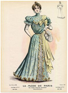 Ball gown, American, 1898.