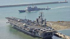 USS Nimitz CVN-68 in Busan, South Korea/ May 2013