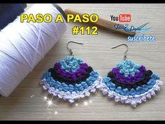 Crochet Designs, Crochet Patterns, Chicken Recepies, Jewlery, Crochet Earrings, Jewelry Making, Youtube, Videos, Crochet Stitches