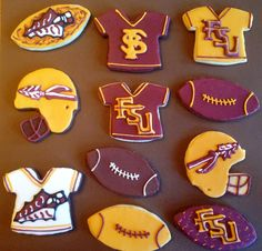 FSU Florida State Seminoles Cookies