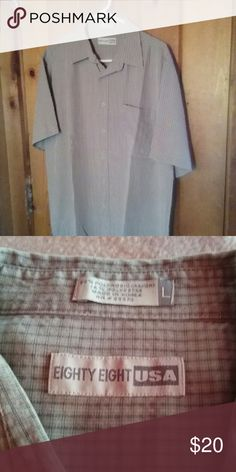 Button down shirt Gently used short sleeve shirt Eighty Eight USA Shirts Casual Button Down Shirts