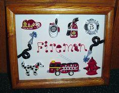 Paper Quilling 9X11 Fireman theme | Flickr: Intercambio de fotos