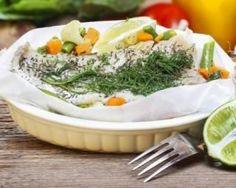 Papillote de poisson maigre aux petits légumes