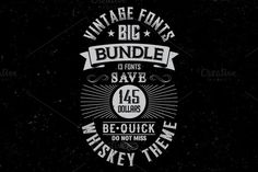 Whiskey Fonts BIG Bundle by Vozzy on @creativework247