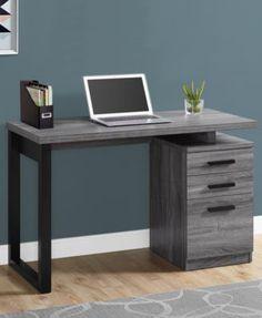 Monarch Specialties L/R Facing Computer Desk in Black - Gray