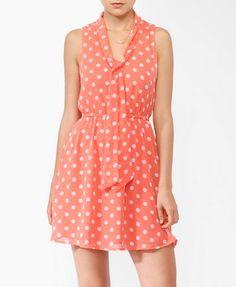 Essential Polka Dot Tie Neck Dress   FOREVER 21 - 2000044196