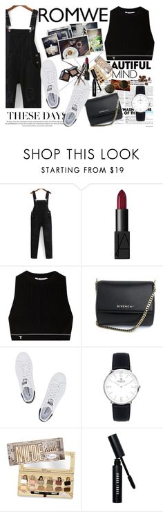 """""""ROMWE"""" by alinnas ❤ liked on Polyvore featuring NARS Cosmetics, T By Alexander Wang, Givenchy, adidas Originals, Bobbi Brown Cosmetics and Ray-Ban"""