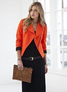 Fierce orange jacket!