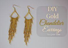 DIY Gold Chandelier Earrings | My Girlish Whims
