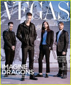 The guys of Imagine Dragons – Dan Reynolds, Wayne Sermon, Ben McKee, and Daniel Platzman keep it cool on the cover of Vegas magazine's Spring 2015 issue
