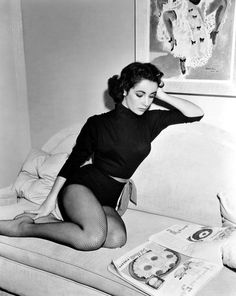 """"""" Elizabeth Taylor takes a break in her MGM dressing room during production of Love Is Better Than Ever. Photo by Virgil Apger, 1952. """""""
