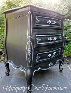 Beautifully refinished night stand.