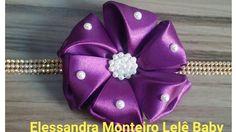 DIY:Flor de Cetim!!!|Elessandra Monteiro Lelê Baby