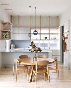 Love this #minimalist #kitchen with #openshelving by @pleysierperkins  :@_danhocking_, :@wade_builders