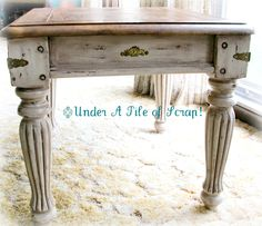 I managed to get this 2nd end table completed, but I had a very sad event to attend last week that took me away from it for a few days. M...