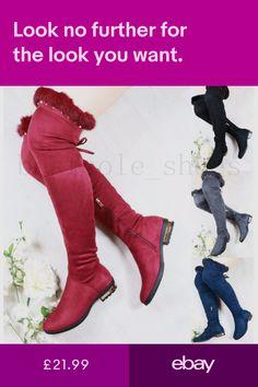 DAMENSTIEFEL VINTAGE STIEFEL Boots Fell Winter Warm Yeti 70s