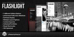 Flashlight v4.0 – Fullscreen Background Portfolio WP Theme