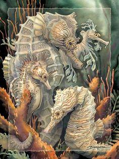 art galleri, seahors art, art 50, sea art, seahorses, sea hors, jodi bergsma, bergsma galleri, artist jodi