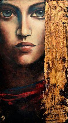 "Photo from album ""Художница Angela Betta Casale. Woman Painting, Figure Painting, Painting & Drawing, Digital Portrait, Portrait Art, Photographie Portrait Inspiration, Beauty And Fashion, Magic Realism, Grafik Design"