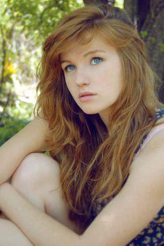 Redhead milf outdoors