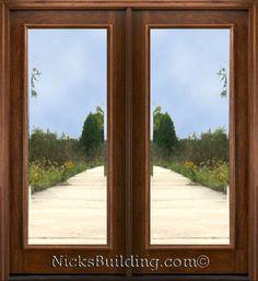 Double Patio Door #entrance #frenchdoors #doors #realwooddoors #thatview Double Patio Doors, Double Front Entry Doors, Front Door Entryway, Double Doors Exterior, French Doors Patio, Glass Front Door, Glass Door, Glass French Doors, Beveled Glass
