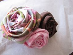 Thrifty Crafting: Rosette hair clip tutorial
