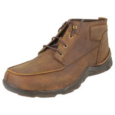 MEN'S TIMBERLAND ANKLE BOOTS BROWN LEATHER  STYLE -54594