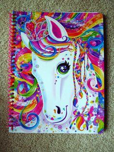 LISA FRANK Spiral Notebook Rainbow Majesty Horse Paper School Supplies Book Pad #LisaFrank