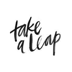 "19 Me gusta, 4 comentarios - Lettered Lessons (@letteredlessons) en Instagram: ""Lesson 18: Take a leap"""
