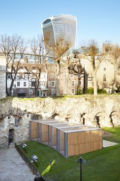 The Tower of London's famous resident ravens have a new home in a set of oak and mesh-encased aviaries