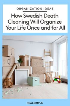In her book The Gentle Art of Swedish Death Cleaning, Margareta Magnusson explores the organizing trend and how to declutter your home and life as you get older. Declutter Your Home, Organize Your Life, Life Organization, Organizing Ideas, House Beautiful, Beautiful Homes, Swedish Traditions, Serenity Now, Real Simple