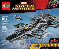 #LEGO #Marvel Super Heroes UCS S.H.I.E.L.D. Helicarrier (76042) - Read more here: http://www.thebrickfan.com/lego-marvel-super-heroes-ucs-s-h-i-e-l-d-helicarrier-76042-officially-revealed/