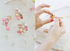 How to Make Pretty DIY Bobbi Pins for your Bridesmaids