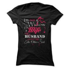 IM NOT A WIDOW - #sweats #black shirts. GET => https://www.sunfrog.com/LifeStyle/IM-NOT-A-WIDOW-8933608-Guys.html?id=60505