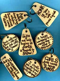 Key chains   #woodburning #pyrography