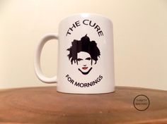 Robert Smith inspired THE CURE For Mornings by ThriftyBastardCustom on Etsy -- Lol! I love this!