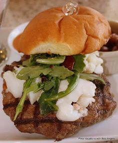 Grand Floridian Burger - angus burger topped with lobster (no recipe)