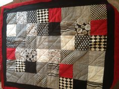Baby black and white quilt