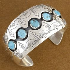 Very Nice! Sterling Silver Shadow Box Cuff Bracelet by Navajo Indian Tom Ahasteen $600.00 #Alltribes