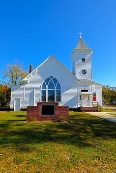 Photo about Rural Country Church with Blue Sky. Image of hundreds, harvest, country - 22066155 Abandoned Churches, Old Churches, Sacred Architecture, Church Architecture, My Father's House, Old Country Churches, Church Pictures, Take Me To Church, Cathedral Church