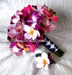 Beautiful Orchid and Plumeria bouquet