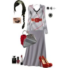 Grey with Red